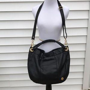 Vince camuto amazing black pebbled leather bag